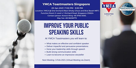 Improve your public speaking skills (near Dhoby Ghaut MRT) tickets