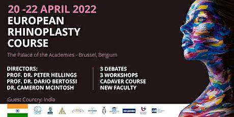 European Rhinoplasty Course 2022 billets