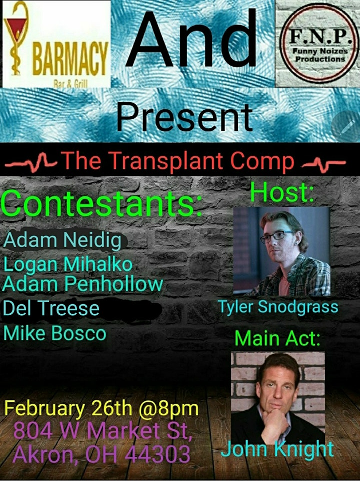 The Snotty Transplant Comedy Competition image