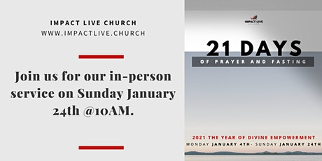 Impact Live Church- January 24th In-Person Service tickets