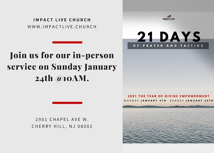 Impact Live Church- January 24th In-Person Service image