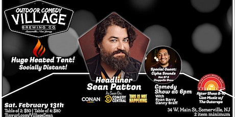 Outdoor Comedy at Village Brewing with Sean Patton(Under Huge Heated Tent) tickets