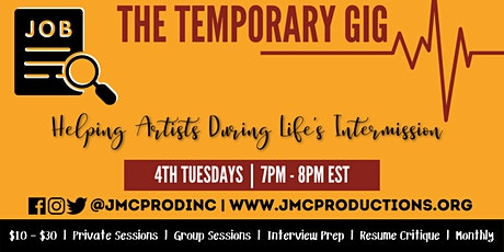 The Temporary Gig: Resume & Interview Workshops for Artists tickets