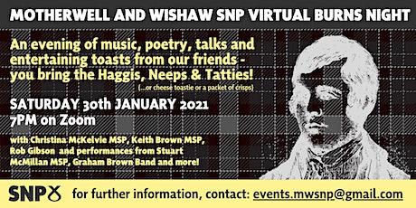 Motherwell and Wishaw SNP Burns Night tickets