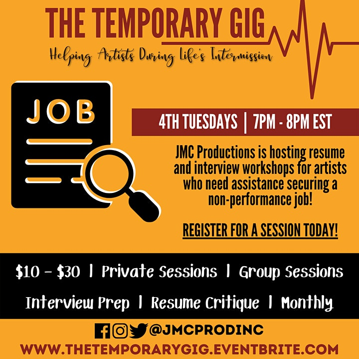 The Temporary Gig: Resume & Interview Workshops for Artists image