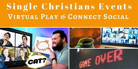 Single Christians Events: Virtual Play & Connect Social, 21-45yrs, UK tickets