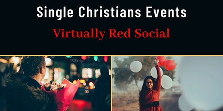 Single Christians Events: Virtually Red Social, 25-45yrs, Online, UK tickets