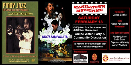 "Manilatown MovieTime presents ""Pinoy Jazz & Nico's Sampaguita"" tickets"