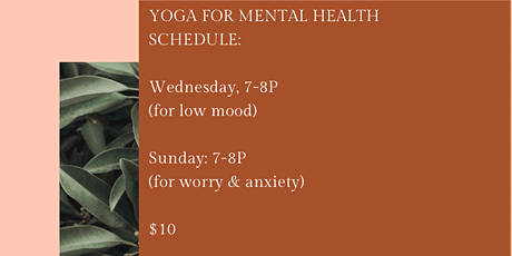 Yoga for Mental Health tickets