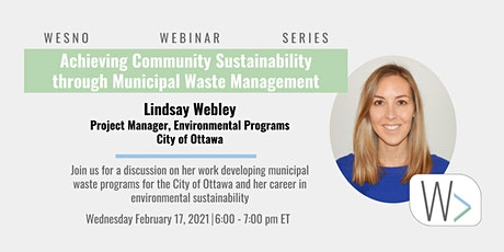 Achieving Community Sustainability through Municipal Waste Programs tickets
