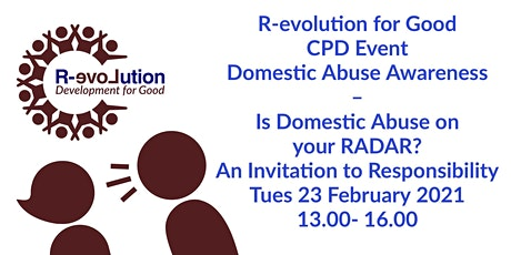 Is Domestic Abuse on your RADAR? – An Invitation to Responsibility tickets