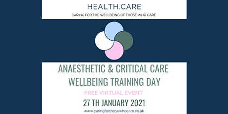 Wellbeing for Anaesthetists and Critical Care Workers tickets