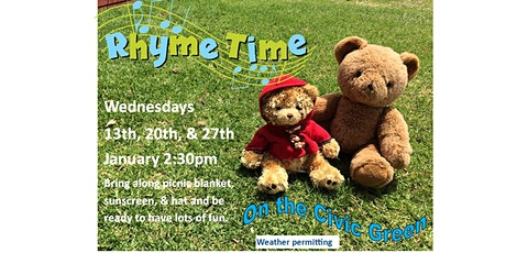 Warrnambool Library Rhymetime on the Civic Green - Wednesdays 2:30pm tickets