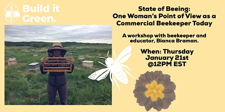 State of Beeing: One Woman's Point of View as a Commercial Beekeeper Today tickets