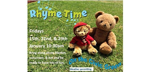 Warrnambool Library Rhymetime on the Civic Green - Fridays 10:30am tickets