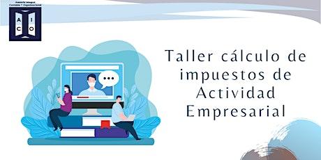 Taller de cálculo de impuestos Actividad Empresarial boletos