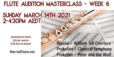 Flute Audition Masterclass #6 tickets