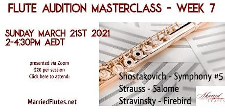 Flute Audition Masterclass #7 tickets