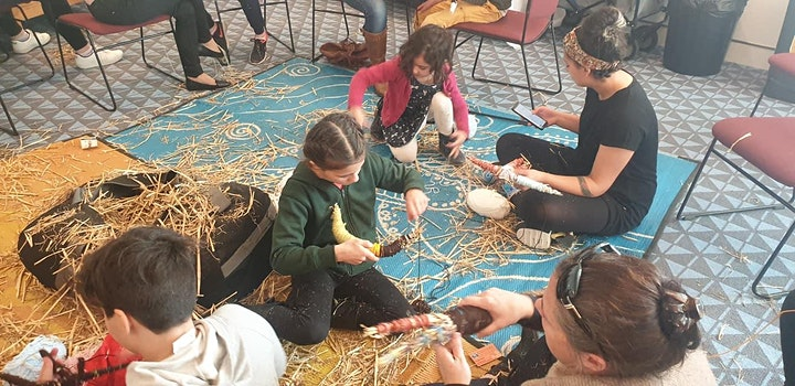 HERE I AM | Culture on the Move Workshop- Bush Animals Weaving image
