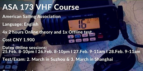 Online VHF (Very High Frequency)course  ASA 173 Certificate for IPC tickets