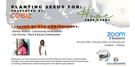 Planting Seeds for Hope (Three  Part Zoom Series) tickets