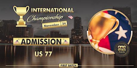 Campeonato One World Beauty Expo 2021  - Shadow tickets