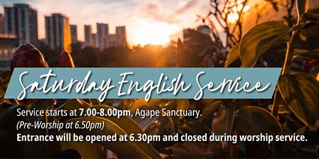 English Saturday Service (23 Jan) tickets