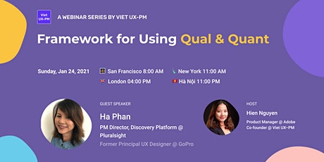 Framework for Using Qual & Quant tickets