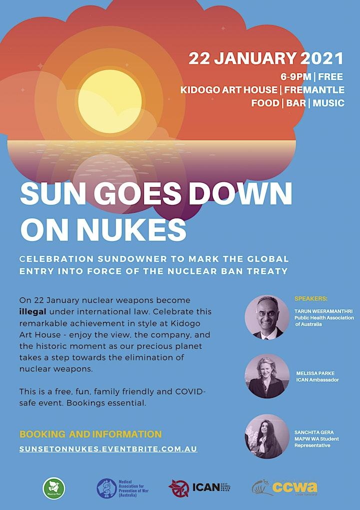 Sun Sets on Nukes, January 22, 2021 Fremantle image