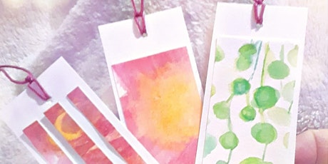 Pretty Watercolor Bookmarks Workshop tickets