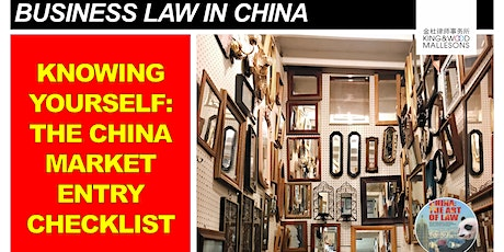 Knowing Yourself - THE China market entry checklist tickets