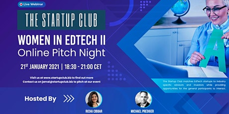 Women in EdTech II - Online Pitch Night Tickets