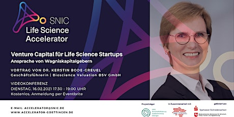 Venture Capital für Life Science Startups Tickets