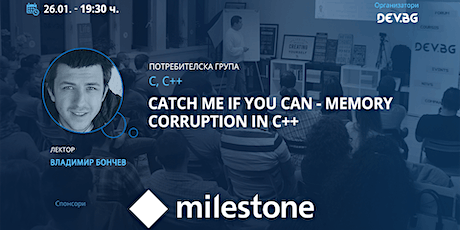 Webinar: Catch me if you can - Memory corruption in C++ tickets