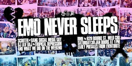 Emo Never Sleeps - January 30 tickets