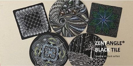 Zentangle®  Essential: Black Tile  禅绕画黑砖 tickets