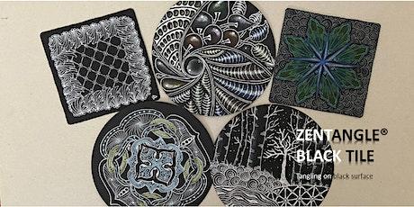 Zentangle®  Essential: Black Tile  禅绕画黑砖 tickets