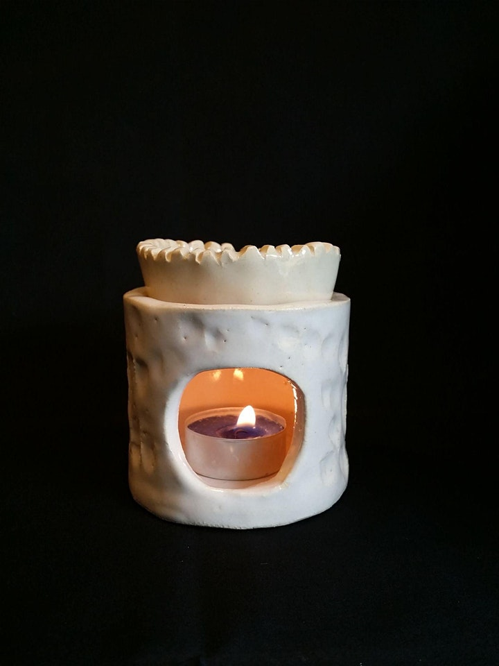 Tea Light Holder | Pottery Workshop w/ Siriporn Falcon-Grey image