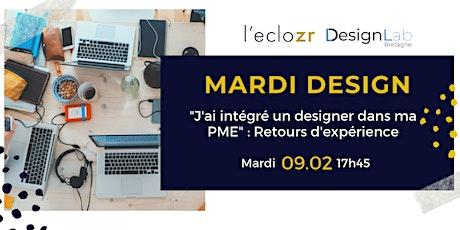 Mardi Design : J'ai intégré un designer dans ma PME - retours d'expérience billets