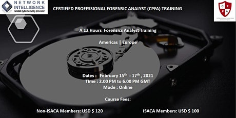 Certified Professional Forensics Analyst (CPFA) Training Course tickets