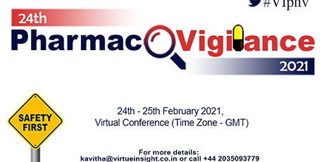 24th Pharmacovigilance 2021 - (Virtual Conference) tickets