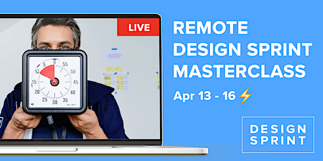 4 -day Remote Design Sprint Masterclass  with certificate Design Sprint Ltd tickets