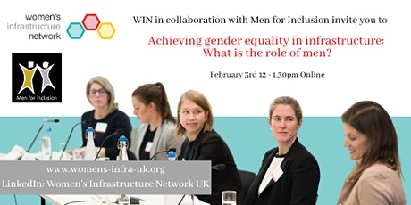 Achieving gender equality in infrastructure: What is the role of men? tickets