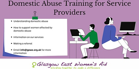 Glasgow East Women's Aid: Domestic Abuse Training for Service Providers tickets