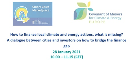 Financing climate & energy actions, a dialogue between cities and investors tickets