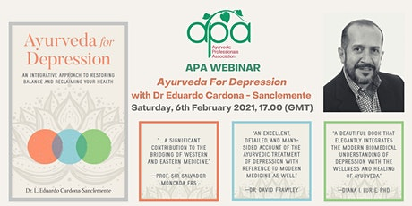 APA WEBINAR Ayurveda For Depression  with Dr Eduardo Cardona - Sanclemente tickets
