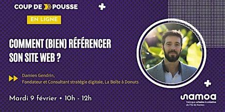 Coup de Pousse en ligne - Comment bien référencer son site web ? billets