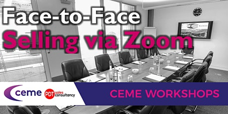 Face-to face selling via Zoom tickets