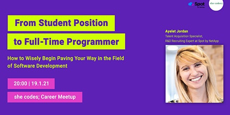 Career Meetup for students- Spot by NetApp‎ | 19/1 | 20:00 tickets