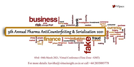 9th Annual Pharma AntiCounterfeiting & Serialisation 2021 tickets